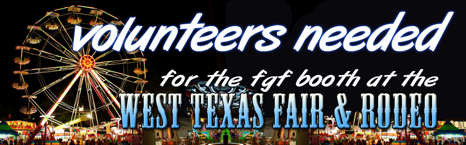 Fair and Rodeo Volunteers banner